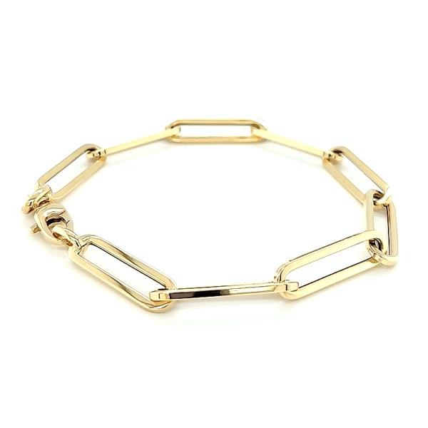 Gelbgold 585 Armband lange Ösen