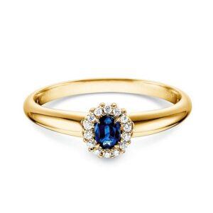 Gelbgold Ring Jolie Safir Brillant Verlobungsringe.de