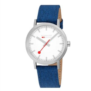 Mondaine Classic Uhr 40 mm matt blau
