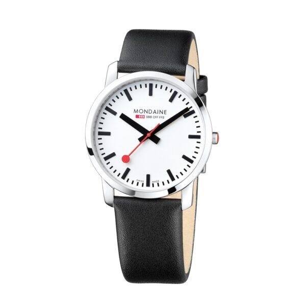Mondaine Uhr 41 mm Simply elegant schwarz