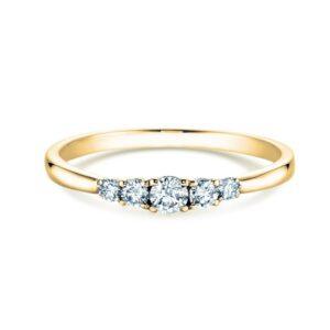 Verlobungsring Gelbgold 5diamonds 0,40 ct verlobungsringe.de