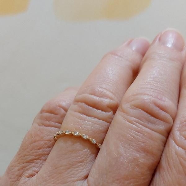 Vintage Stil Rotgold Ring