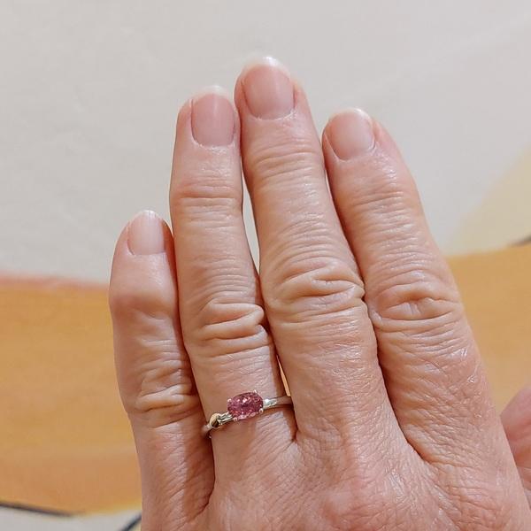 Weißgold Ring pink Turmalin
