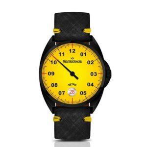 meistersinger-einzeigeruhr-automatik-metris-mellow-yellow