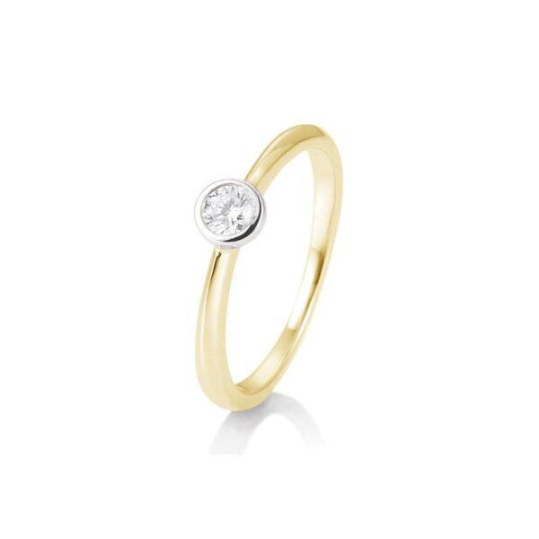 solitaire ring-bicolor-brillant-015ct