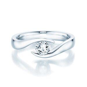 Platin Ring Twist 0,40 ct Brillant Verlobungsringe.de