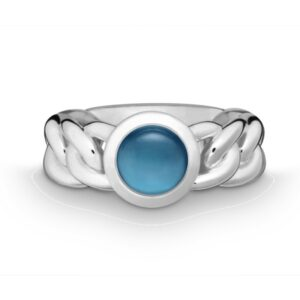 Silber Ring Blautopas Quinn