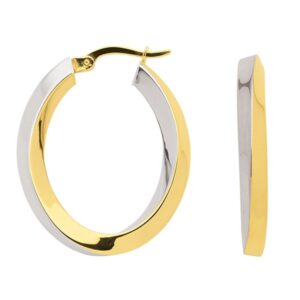 bicolor Gold Creolen
