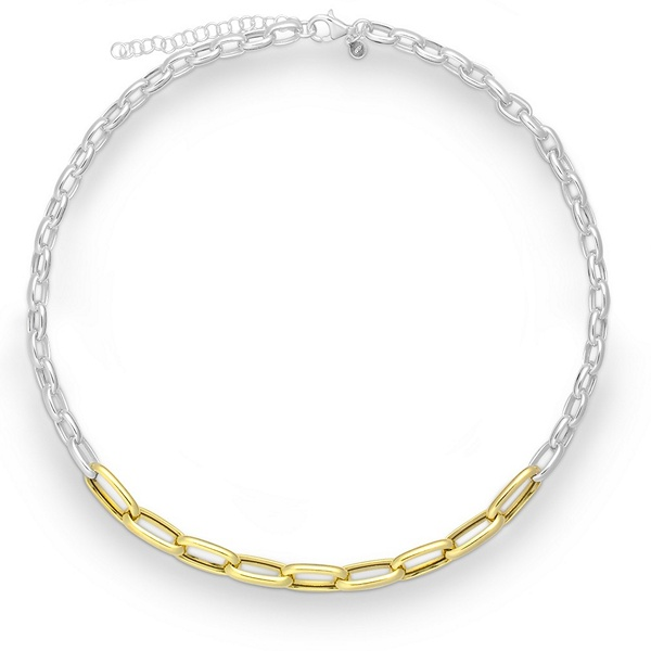 Halskette Silber vergoldet Quinn