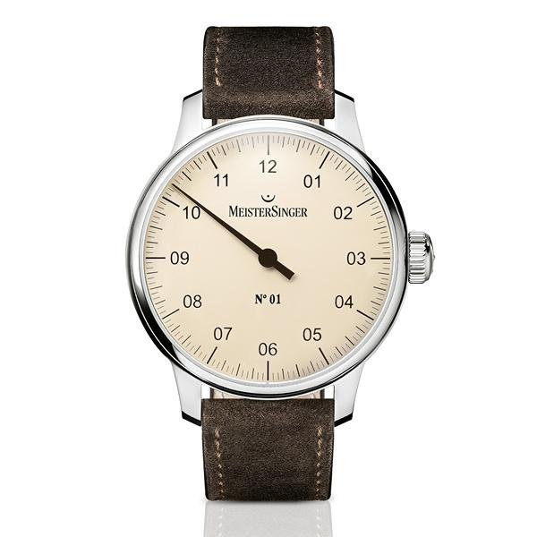 Meistersinger Uhr Handaufzug No 1 elfenbein