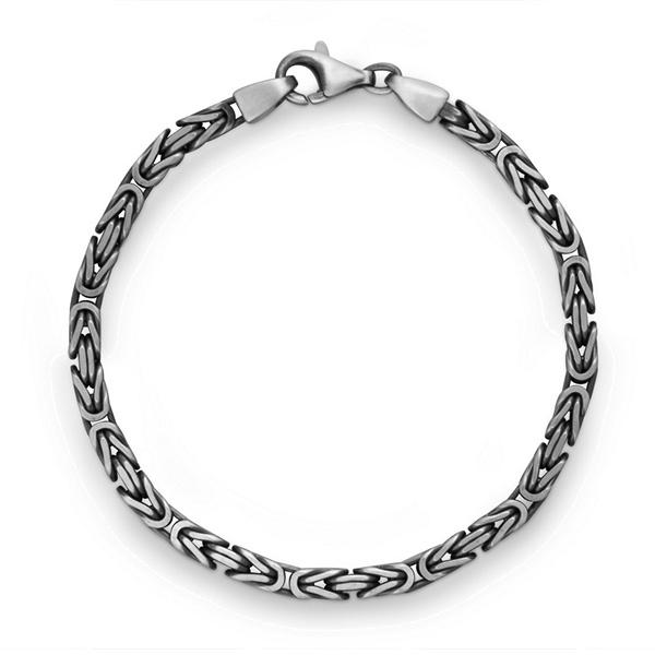 Silber Armband Königskette oxydiert Quinn