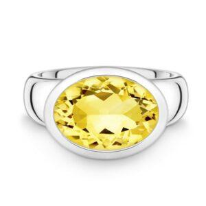 Silber Ring Citrin Quinn