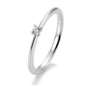 Brillant Ring 0,05 ct 4er Krappe Weißgold
