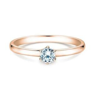 Solitairering Melody 0,25 ct Rosegold