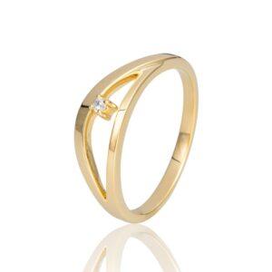 Gelbgold Ring Brillant Breuning