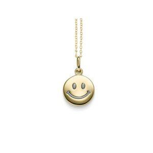 Smiley Anhänger Gelbgold